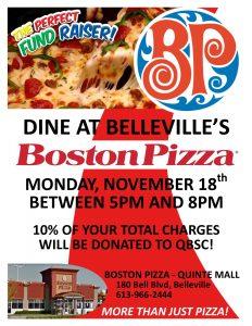 Boston Pizza Night @ Boston Pizza
