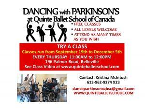 Dancing with Parkinsons @ Quinte Ballet School of Canada
