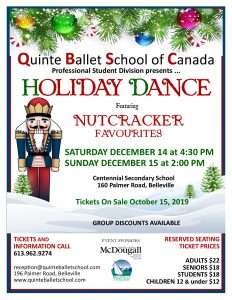 Holiday Dance Tickets On Sale