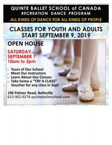 Open House @ Quinte Ballet School of Canada