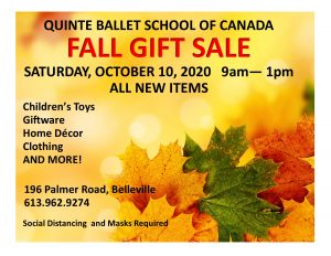 Fall Gift Sale @ Quinte Ballet School