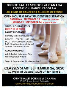 Recreation Classes @ Quinte Ballet School